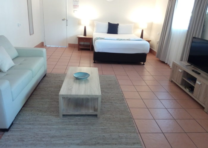 Lake Central Cairns - Studio Apartment with Double Bed and Sofa